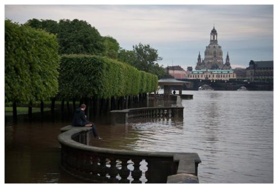 Palaisgarten, Elbufer Innere Neustadt. (Palace garden, bank of the River Elbe.)