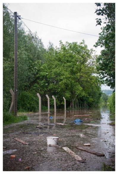Hochwasserschäden nahe Dresden, Niedersedlitz. (Flood damages at Dresden, Niedersedlitz.)