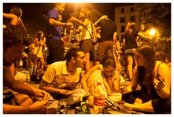 Barrio La Latina am Wochenende (District La Latina at weekend)