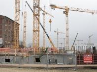 Bauarbeiten an der Großbaustelle Europacity, Heidestraße, Berlin, 2017.