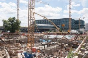 Bauarbeiten am Hauptbahnhof, Invalidenstraße, Berlin, 2017.