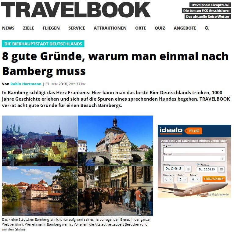 Travelbook damals