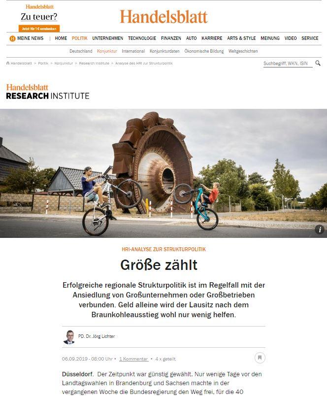 Handelsblatt Online vom 06.09.2019