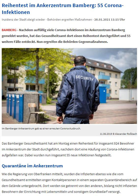 2021-05-14 Screenshot nordbayern.de Reihentestung im Ankerzenrtum Bamberg